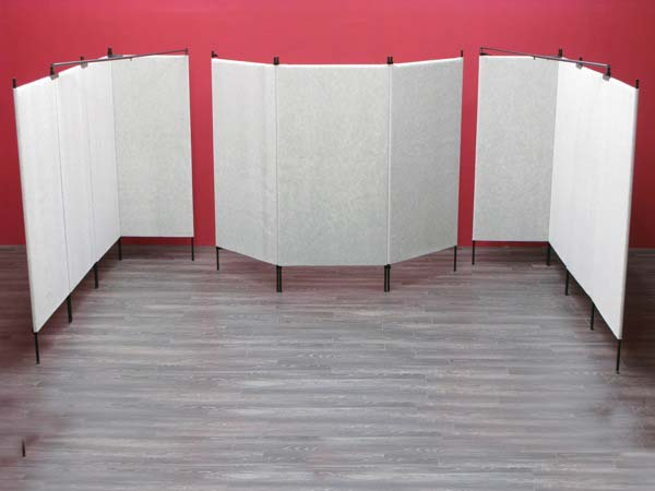 "10' x 15' Booth with (9) 7' x 38.5"" Original Panels and (2) 7' x 30"" Panels"