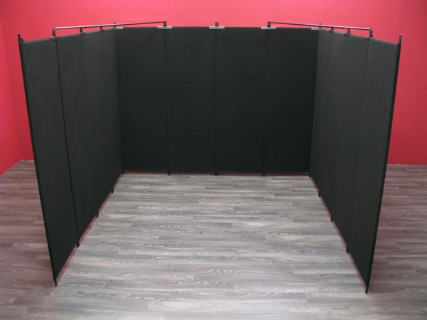 "10' x 10' booth featuring 8' tall x 30"" wide Pro Panels."