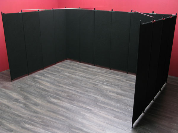 "10' x 15' booth featuring 8' tall x 30"" wide Pro Panels"