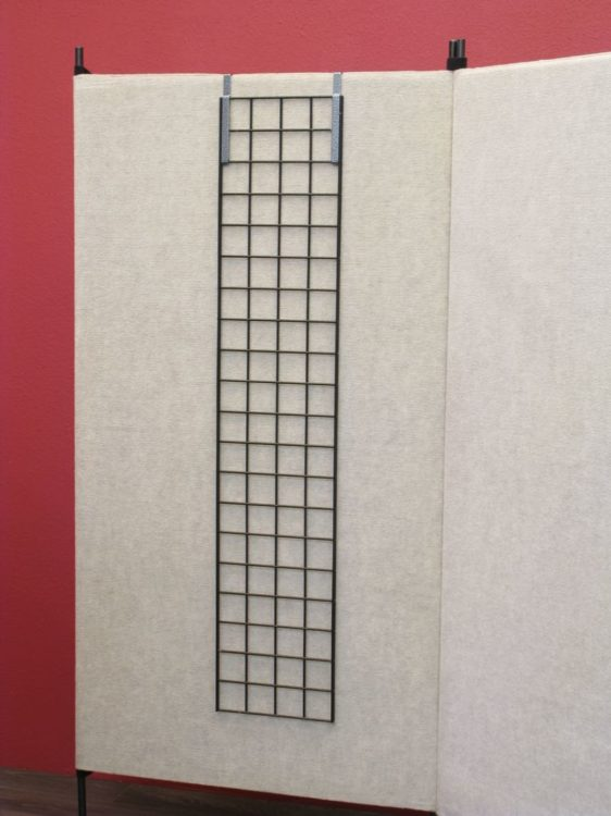 Set of 2 Grid Wall Hangers, used to hang Grid Wall on Pro Panels.