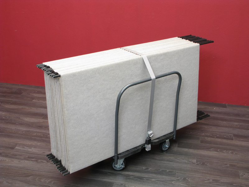 12 Original Pro Panels fit perfectly onto a Haul-It-All Cart.